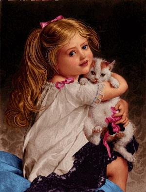لیدا گربه در دست